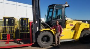 Colorado Material Handling equipment in Johnstown branch manager Chris Pohl