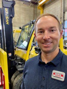 Boise Material Handling Equipment Dealer branch manager Tyler Kuhn